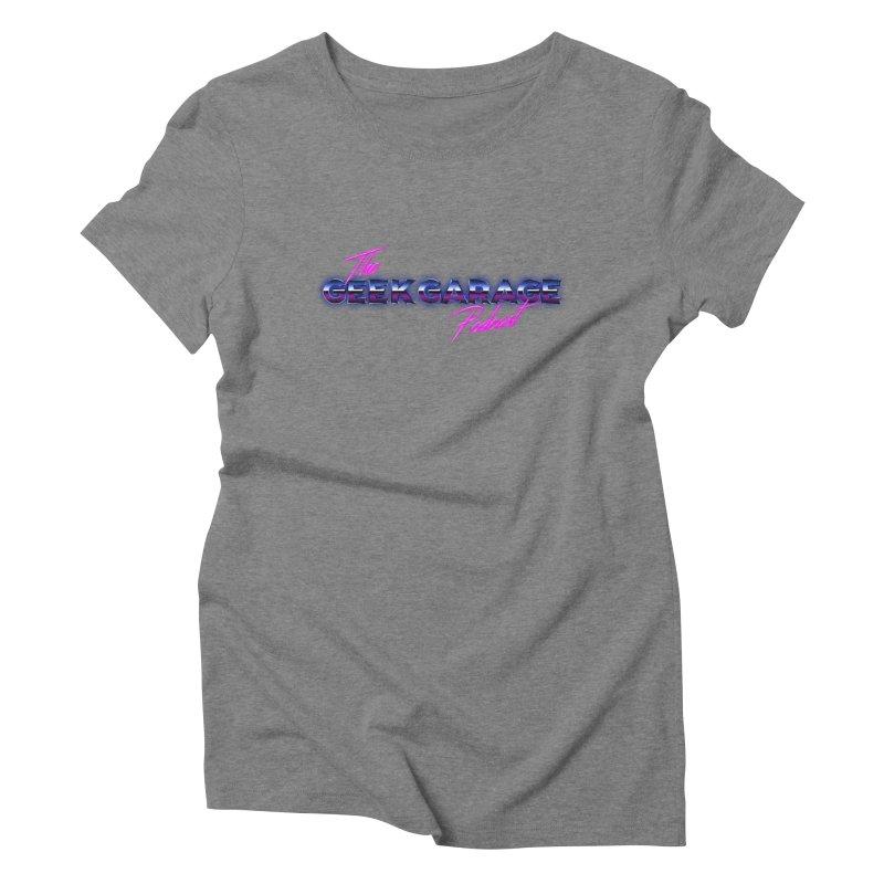 Retro Logo Women's Triblend T-Shirt by geekgaragepodcast's Artist Shop