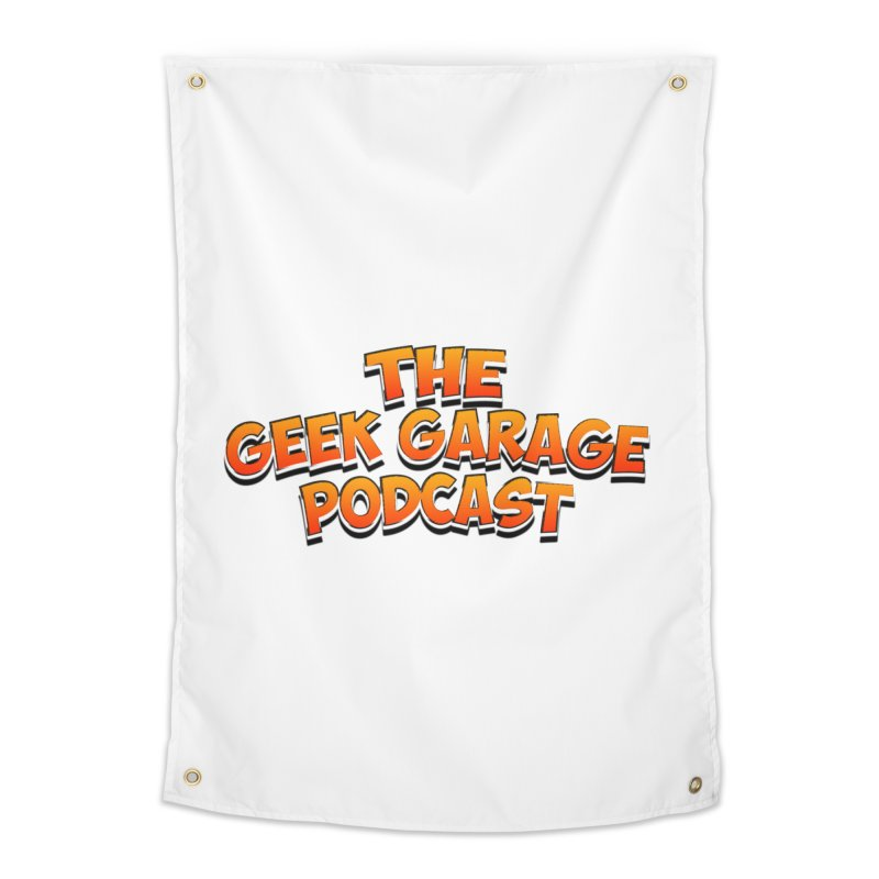 Comic Book Logo Home Tapestry by Geek Garage Podcast's Artist Shop