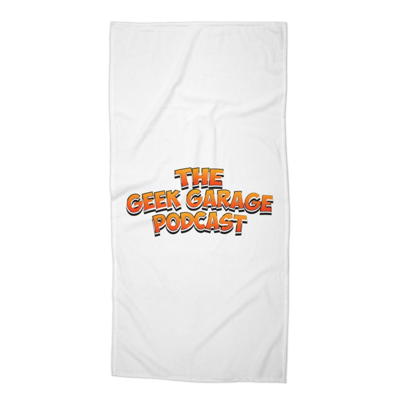 Comic Book Logo Accessories Beach Towel by geekgaragepodcast's Artist Shop