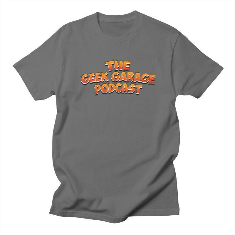 Comic Book Logo Men's Regular T-Shirt by Geek Garage Podcast's Artist Shop