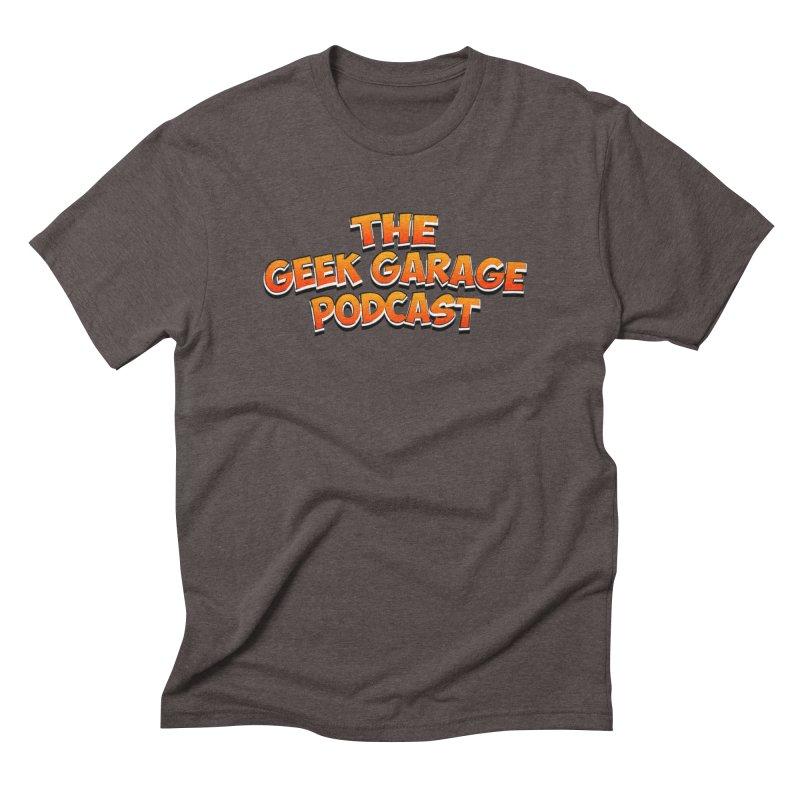 Comic Book Logo Men's Triblend T-Shirt by Geek Garage Podcast's Artist Shop