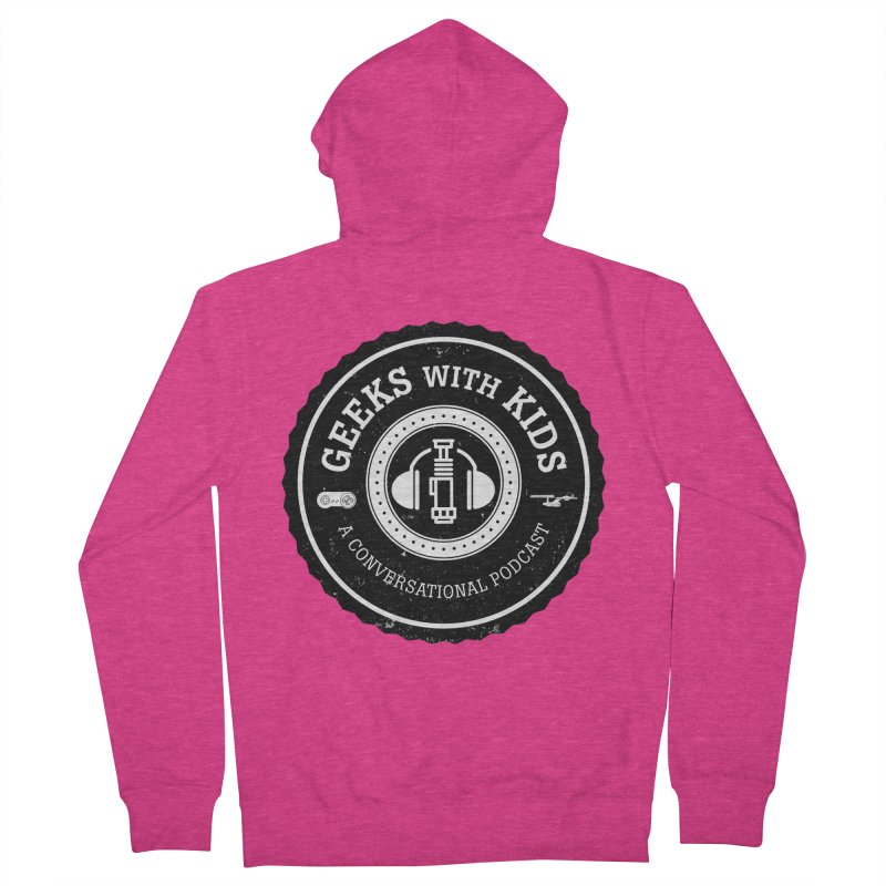 GWK the logo Women's French Terry Zip-Up Hoody by Geeks with Kids the Shop