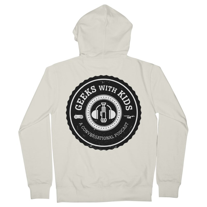 GWK the logo Men's French Terry Zip-Up Hoody by Geeks with Kids the Shop
