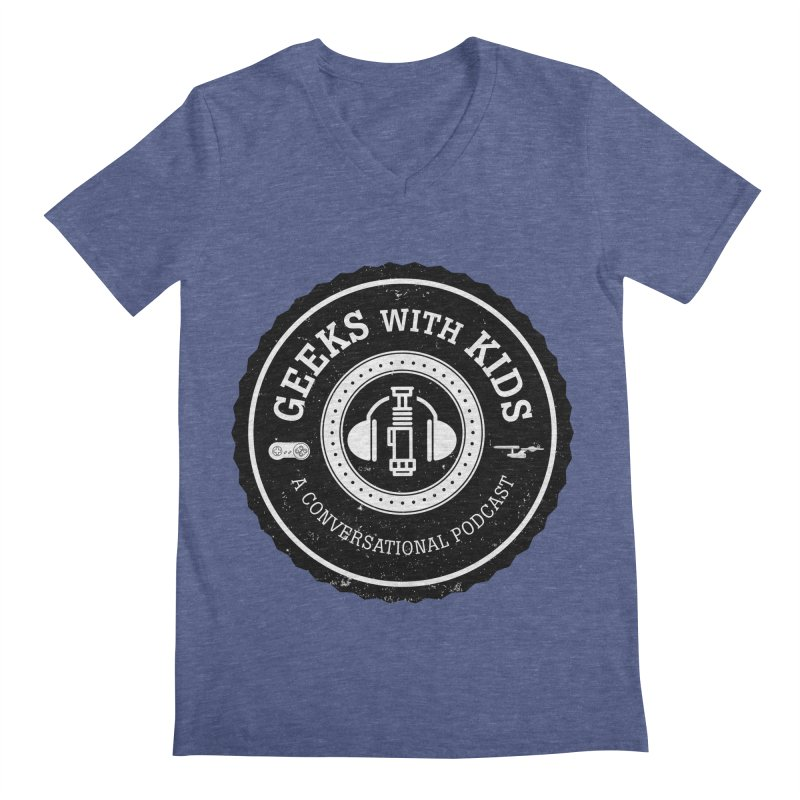 GWK the logo Men's Regular V-Neck by Geeks with Kids the Shop