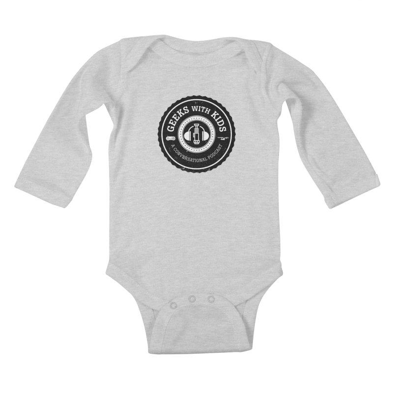 GWK the logo Kids Baby Longsleeve Bodysuit by Geeks with Kids the Shop