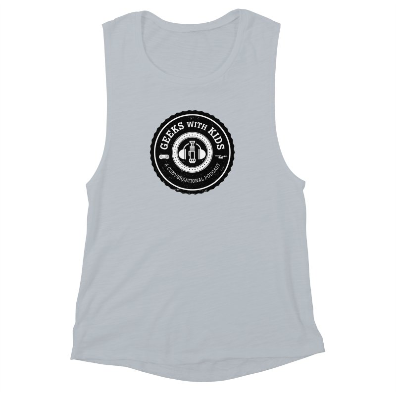 GWK the logo Women's Muscle Tank by Geeks with Kids the Shop