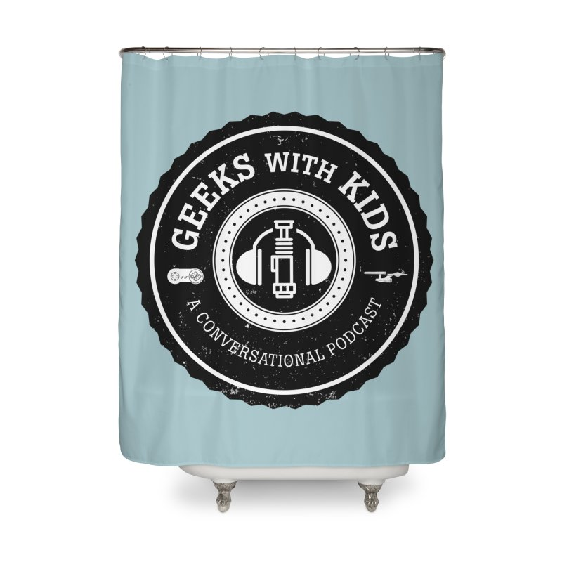 GWK the logo Home Shower Curtain by Geeks with Kids the Shop