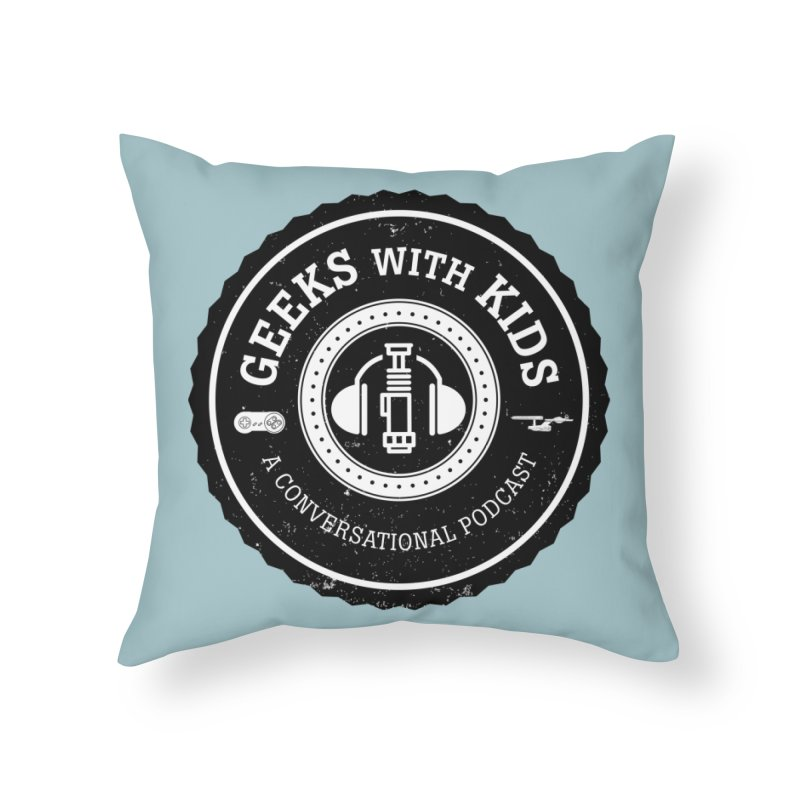 GWK the logo Home Throw Pillow by Geeks with Kids the Shop