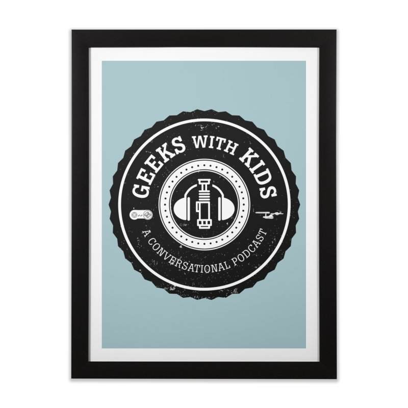 GWK the logo Home Framed Fine Art Print by Geeks with Kids the Shop