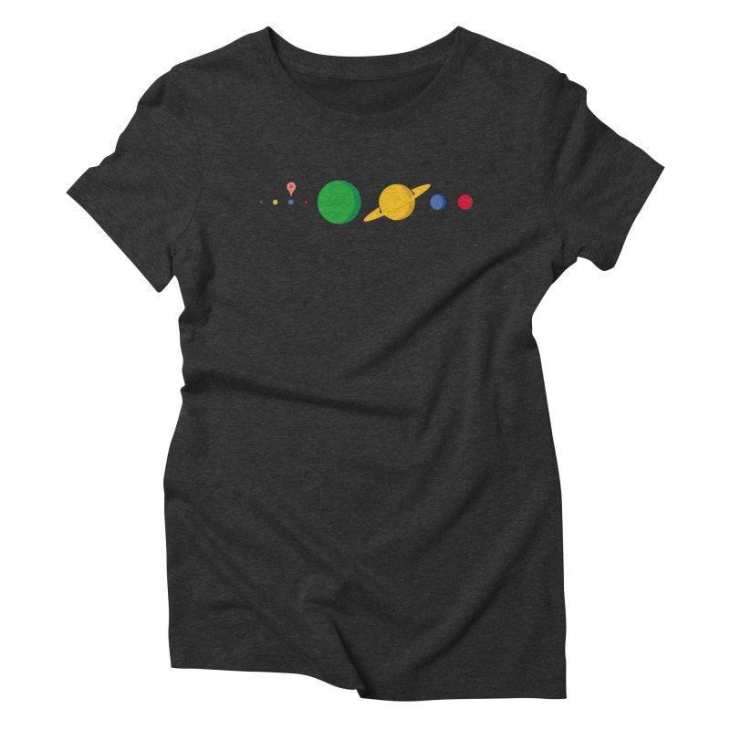 Solar System Route Planner Women's Triblend T-shirt by Geekwerk