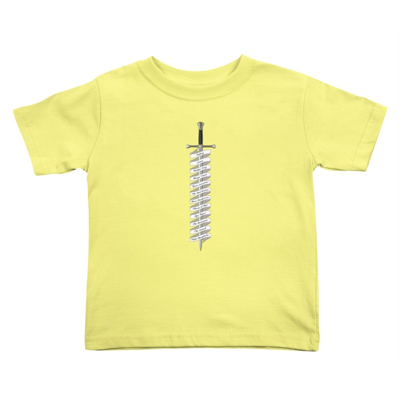 Kill List Kids Toddler T-Shirt by Geeky Nerfherder's Artist Shop