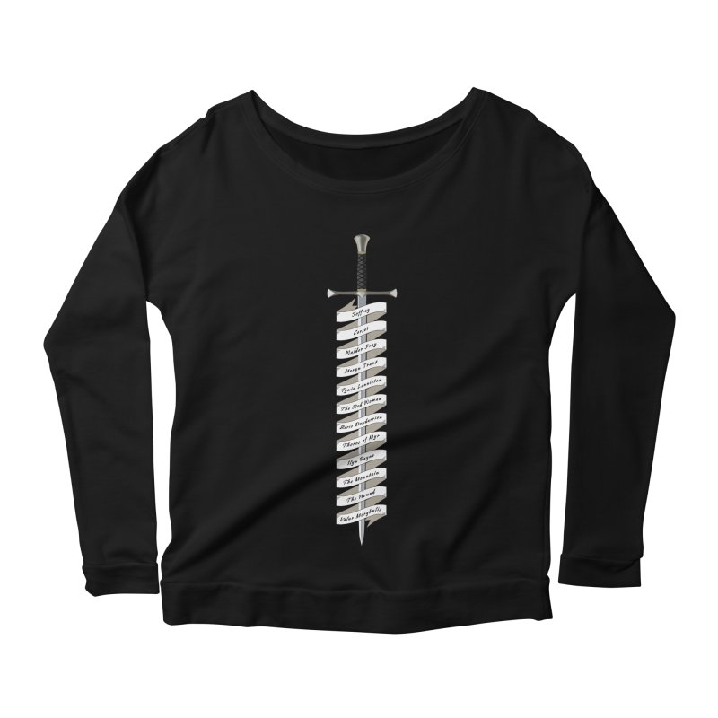 Kill List Women's Longsleeve Scoopneck  by Geeky Nerfherder's Artist Shop