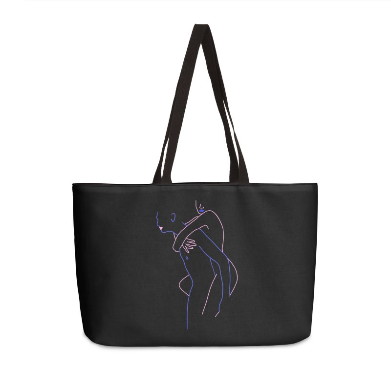 Hold Me Now Accessories Weekender Bag Bag by gelso's Artist Shop