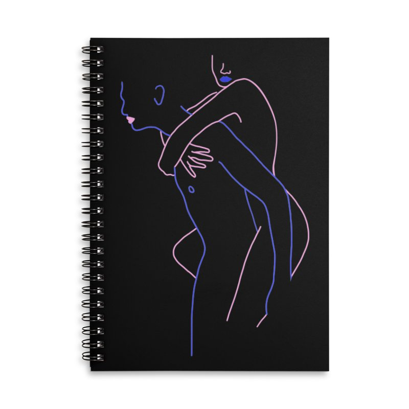 Hold Me Now Accessories Lined Spiral Notebook by gelso's Artist Shop