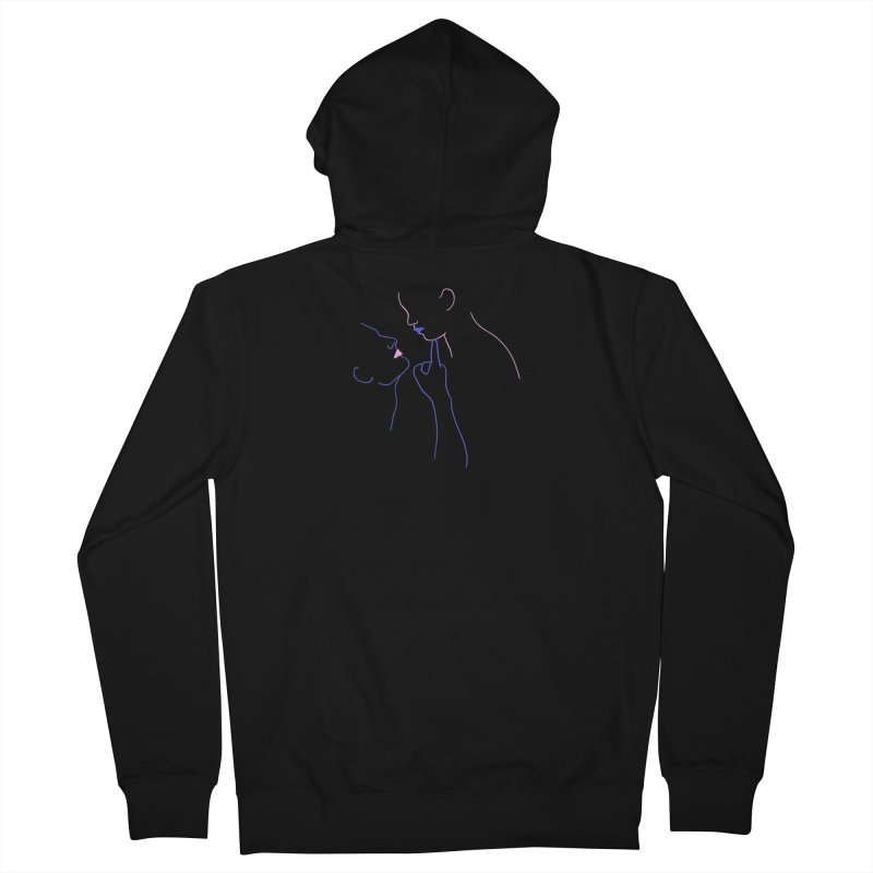 Kiss Me Slowly Men's French Terry Zip-Up Hoody by gelso's Artist Shop