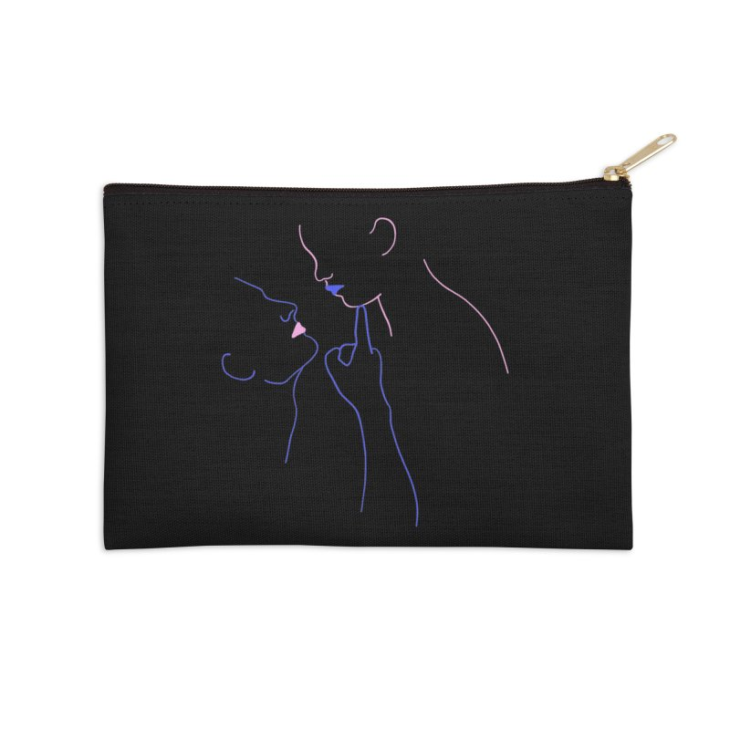 Kiss Me Slowly Accessories Zip Pouch by gelso's Artist Shop