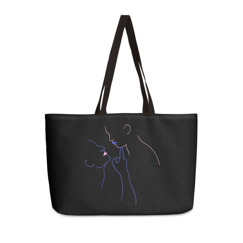Kiss Me Slowly Accessories Weekender Bag Bag by gelso's Artist Shop
