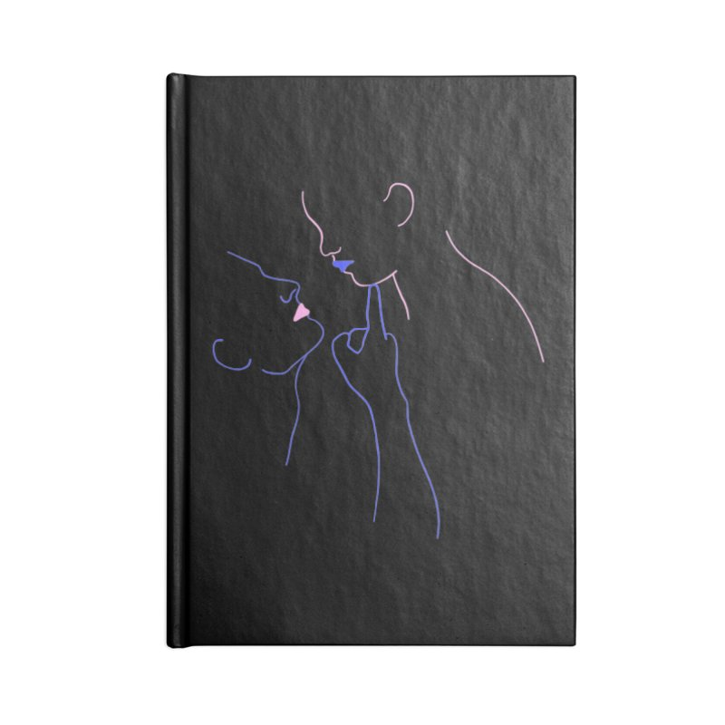 Kiss Me Slowly Accessories Blank Journal Notebook by gelso's Artist Shop