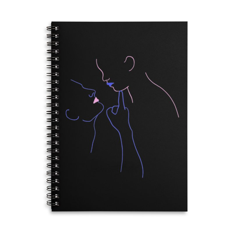 Kiss Me Slowly Accessories Lined Spiral Notebook by gelso's Artist Shop