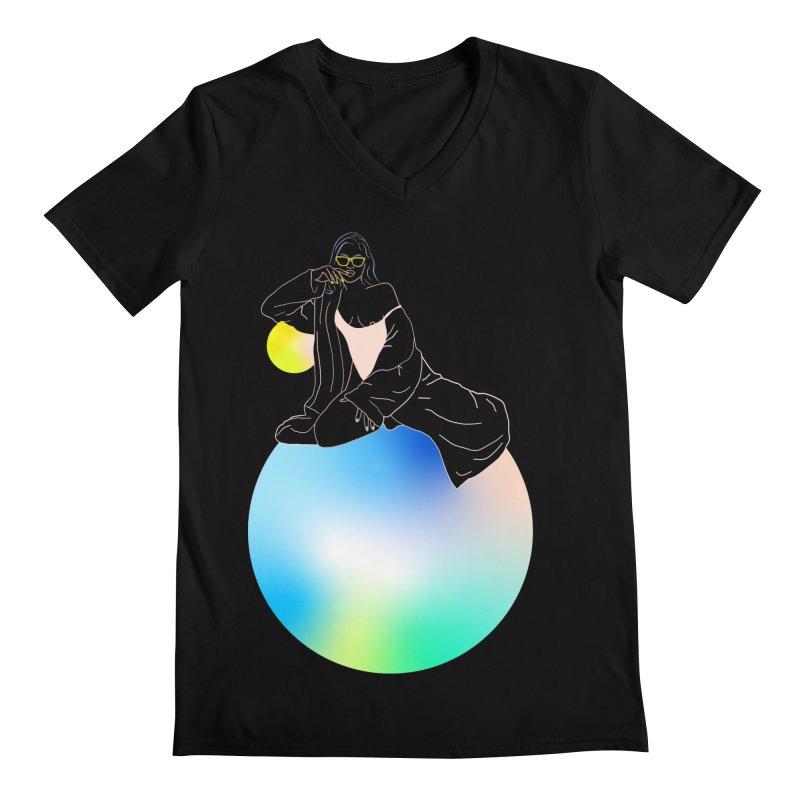 Oasis Girl Men's Regular V-Neck by gelso's Artist Shop