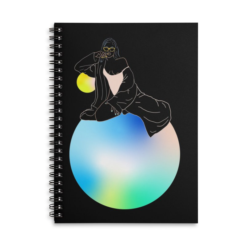 Oasis Girl Accessories Lined Spiral Notebook by gelso's Artist Shop