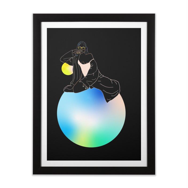 Oasis Girl Home Framed Fine Art Print by gelso's Artist Shop