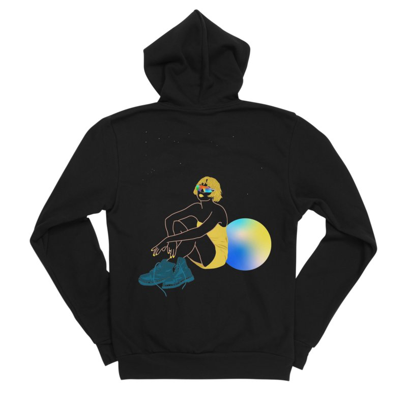 Vision Girl Women's Zip-Up Hoody by gelso's Artist Shop