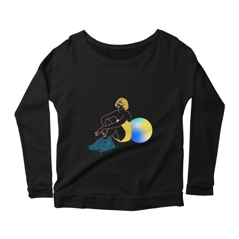 Vision Girl Women's Scoop Neck Longsleeve T-Shirt by gelso's Artist Shop