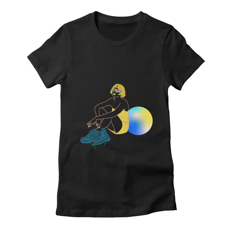 Vision Girl Women's Fitted T-Shirt by gelso's Artist Shop