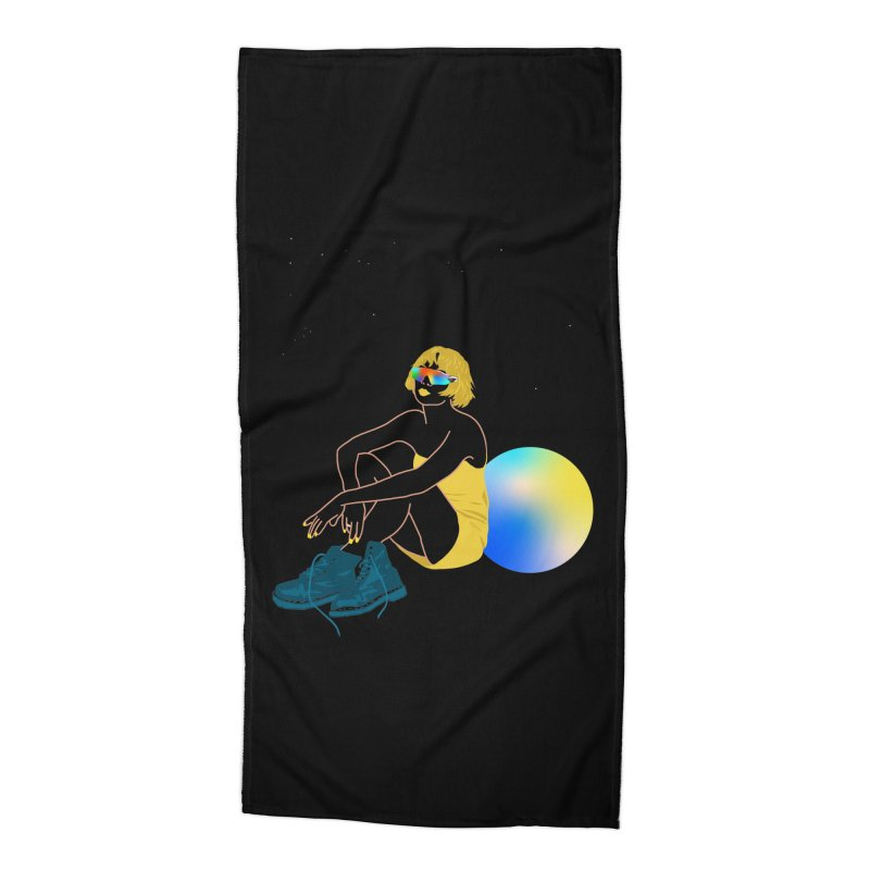 Vision Girl Accessories Beach Towel by gelso's Artist Shop