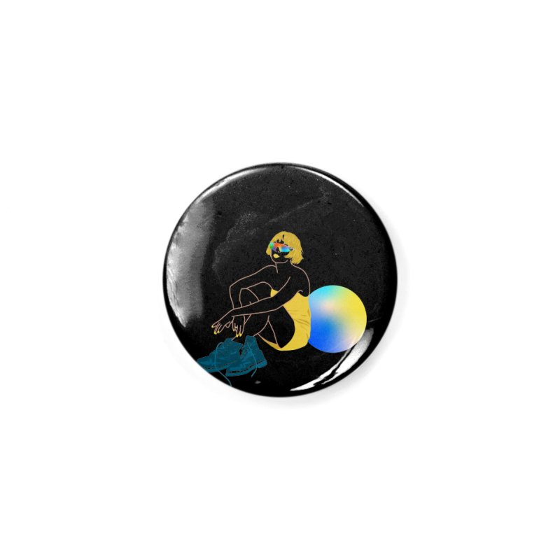 Vision Girl Accessories Button by gelso's Artist Shop