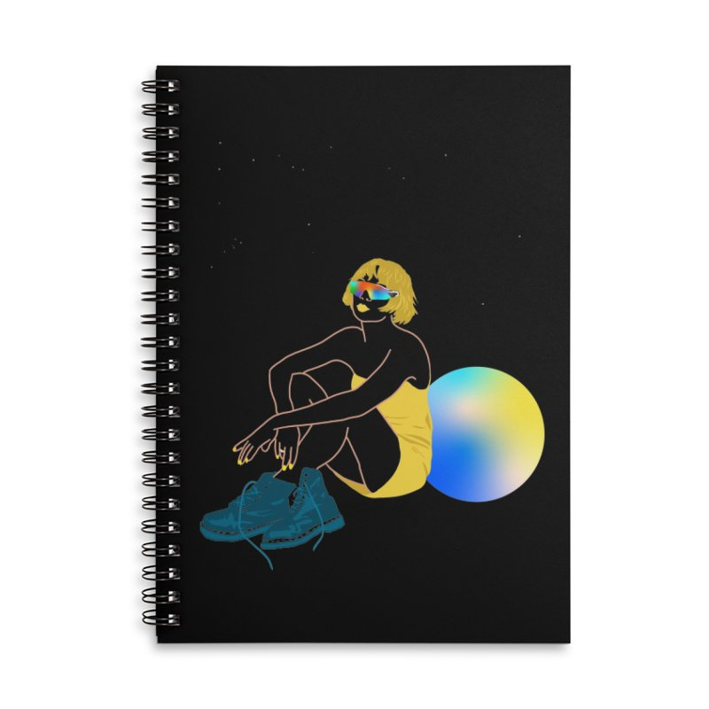 Vision Girl Accessories Lined Spiral Notebook by gelso's Artist Shop