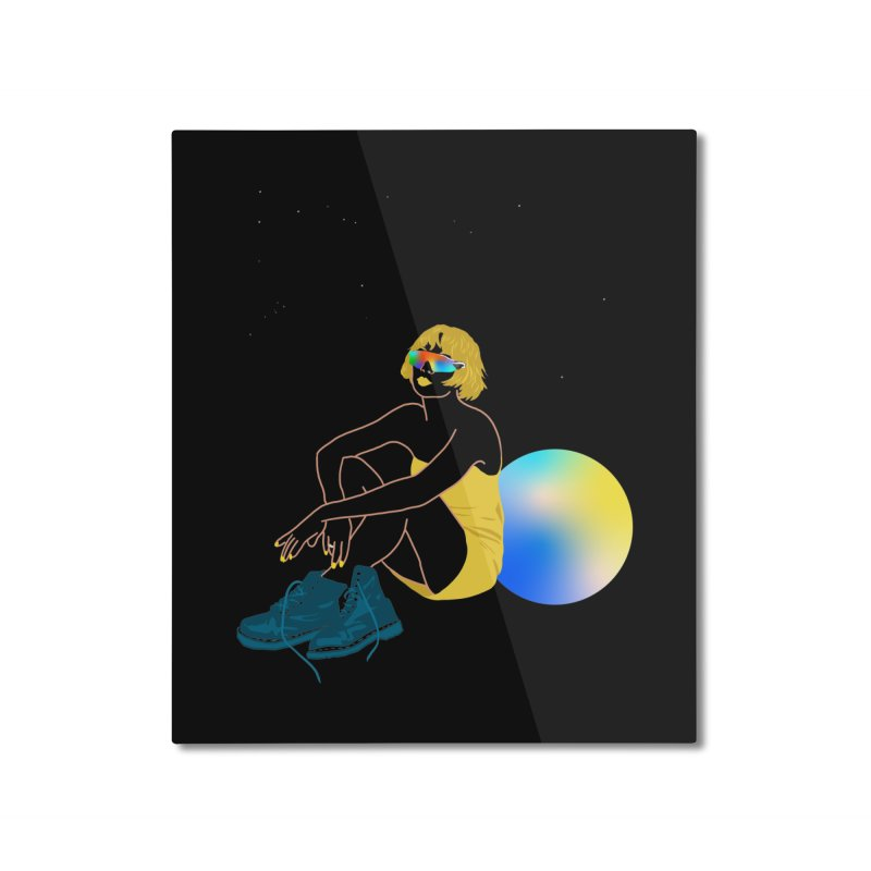 Vision Girl Home Mounted Aluminum Print by gelso's Artist Shop