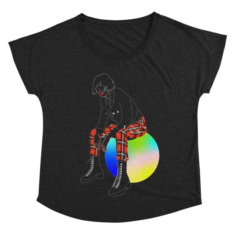 Pattern Girl Women's Dolman Scoop Neck by gelso's Artist Shop