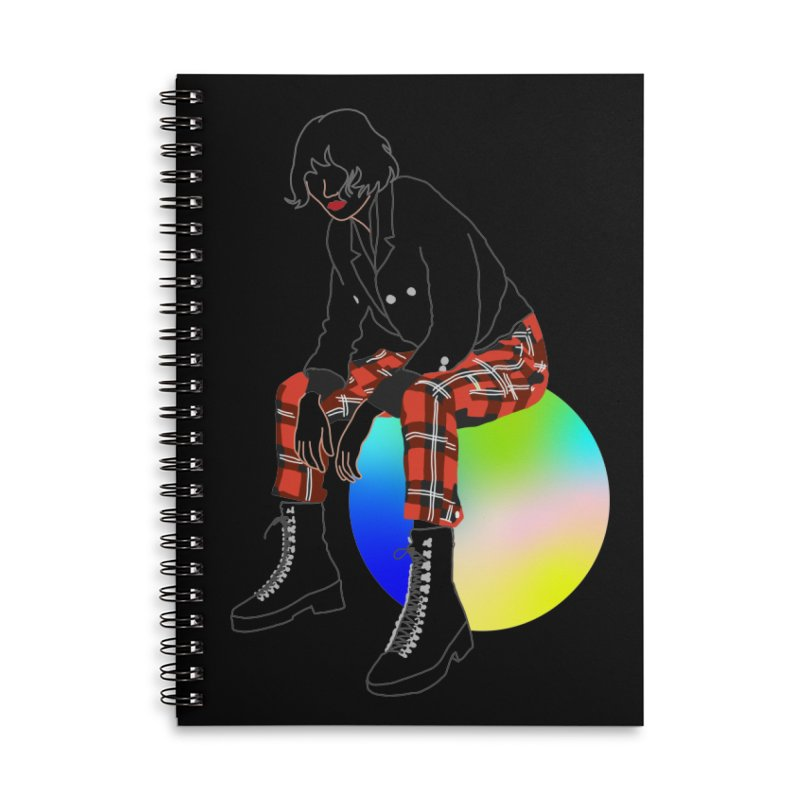 Pattern Girl Accessories Lined Spiral Notebook by gelso's Artist Shop