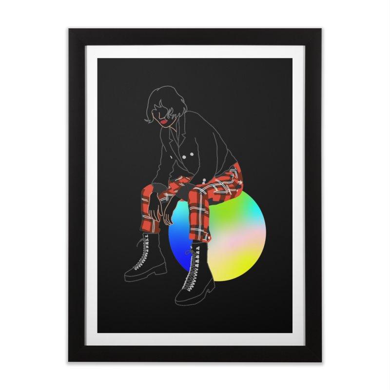 Pattern Girl Home Framed Fine Art Print by gelso's Artist Shop