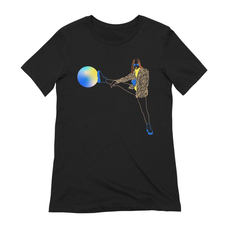 Wild Girl Women's Extra Soft T-Shirt by gelso's Artist Shop