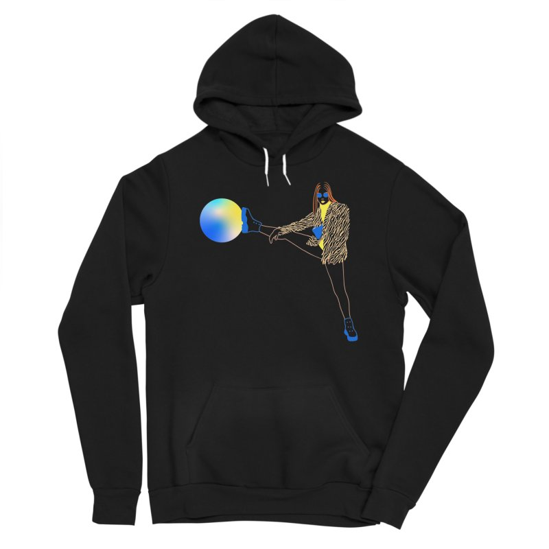 Wild Girl Women's Pullover Hoody by gelso's Artist Shop