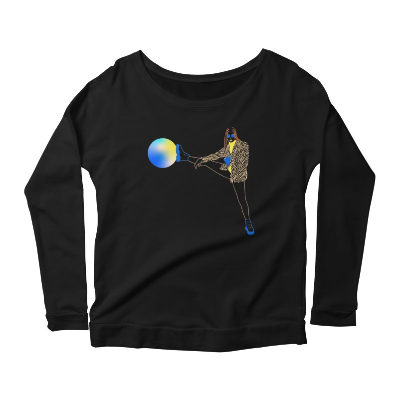 Wild Girl Women's Scoop Neck Longsleeve T-Shirt by gelso's Artist Shop