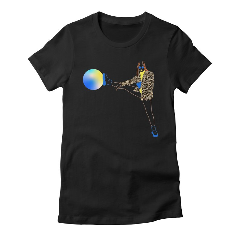 Wild Girl Women's Fitted T-Shirt by gelso's Artist Shop