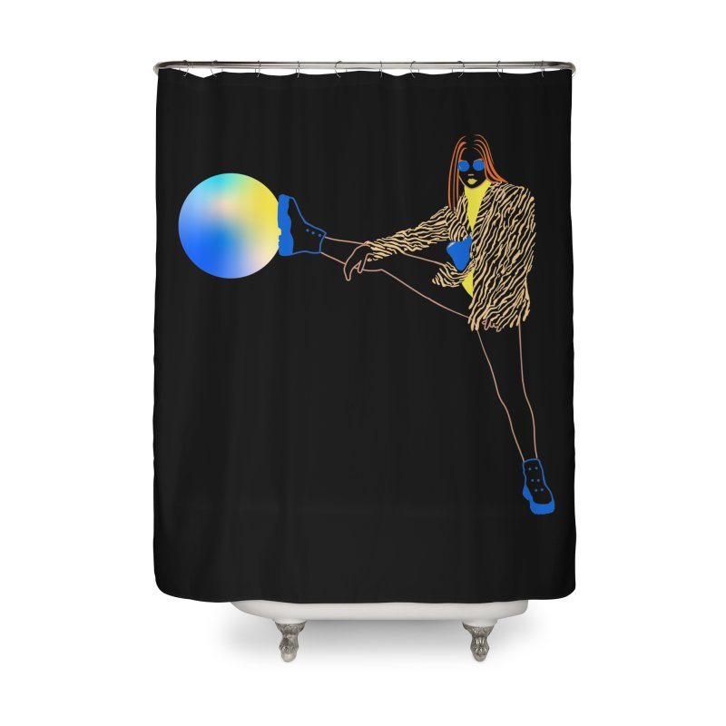 Wild Girl Home Shower Curtain by gelso's Artist Shop