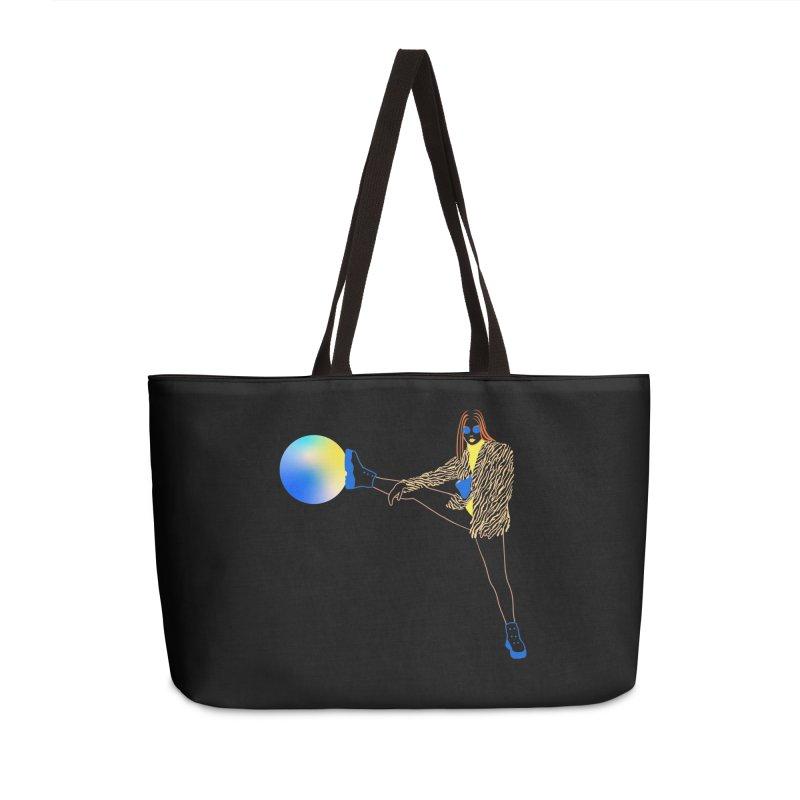 Wild Girl Accessories Weekender Bag Bag by gelso's Artist Shop