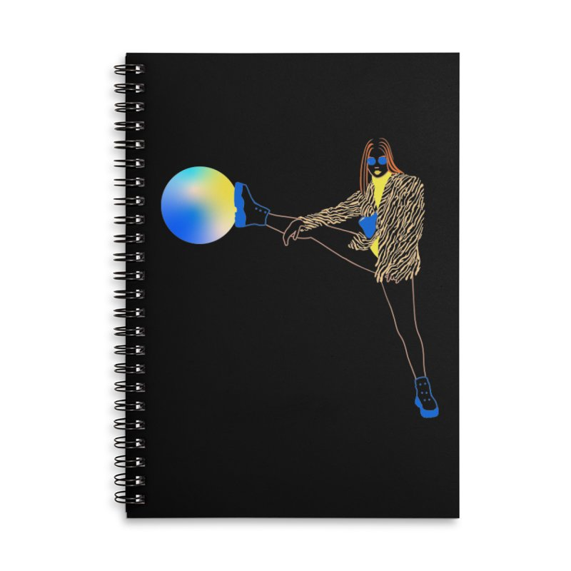 Wild Girl Accessories Lined Spiral Notebook by gelso's Artist Shop