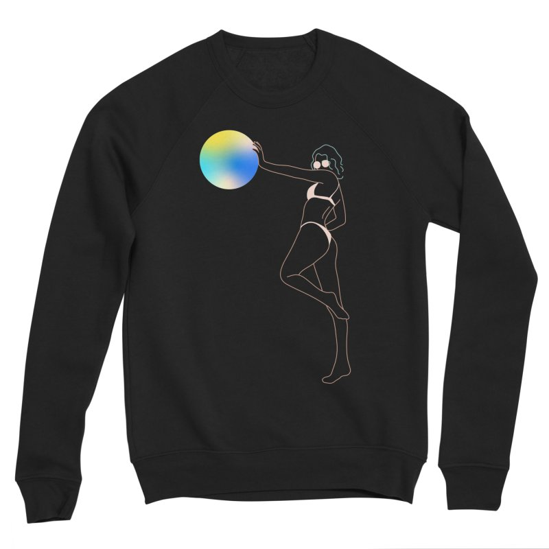 Power Girl Women's Sponge Fleece Sweatshirt by gelso's Artist Shop