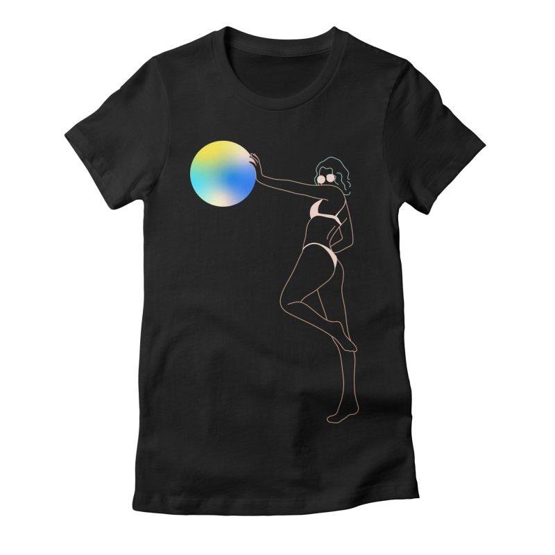 Power Girl Women's Fitted T-Shirt by gelso's Artist Shop