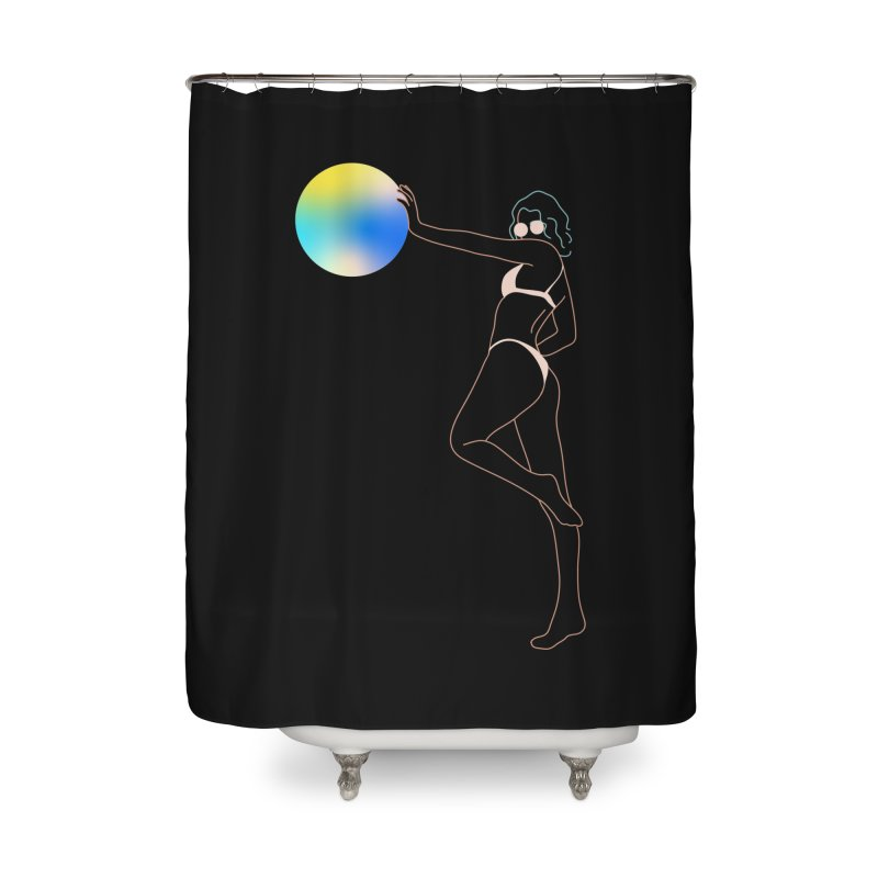 Power Girl Home Shower Curtain by gelso's Artist Shop