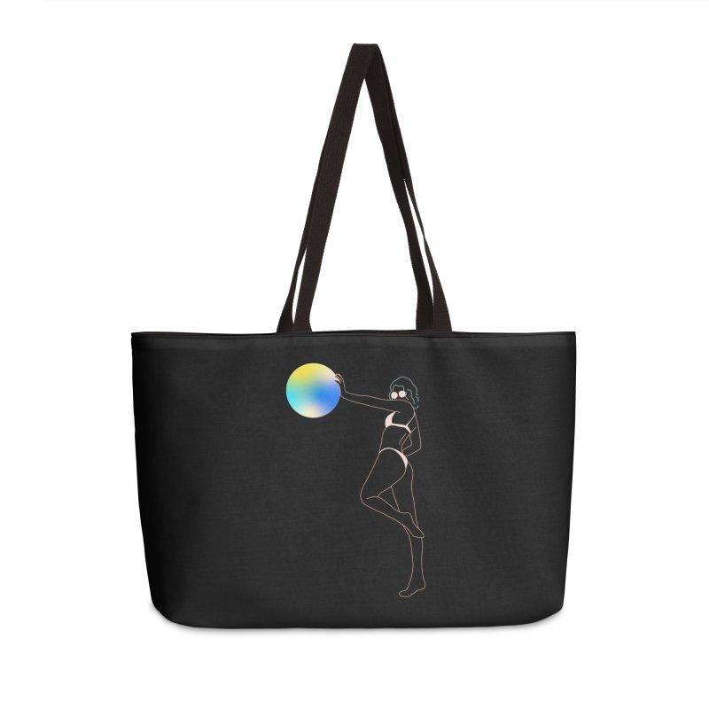 Power Girl Accessories Weekender Bag Bag by gelso's Artist Shop