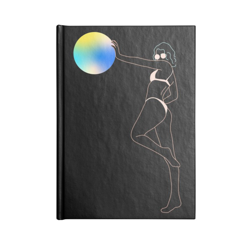 Power Girl Accessories Lined Journal Notebook by gelso's Artist Shop