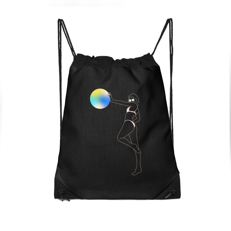 Power Girl Accessories Drawstring Bag Bag by gelso's Artist Shop