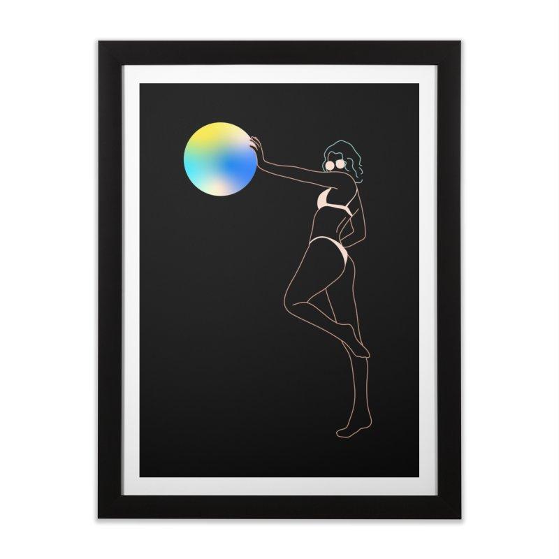 Power Girl Home Framed Fine Art Print by gelso's Artist Shop